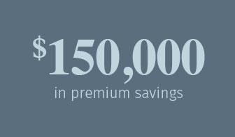 150,000 in premium savings